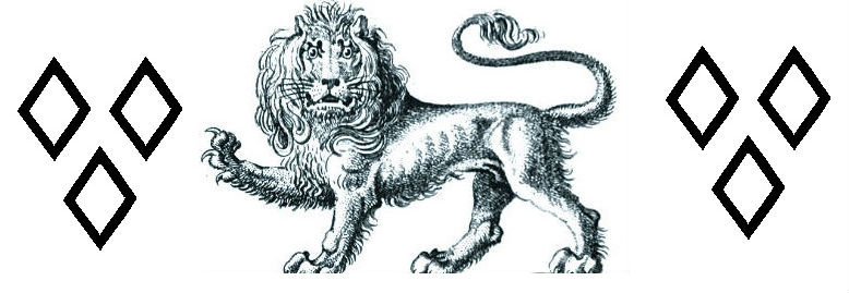 lion passant gardant between
