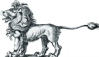 lion statant
