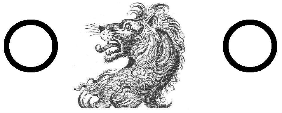 lion's head between