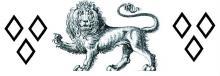 lion passant gardant between