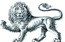 lion passant gardant