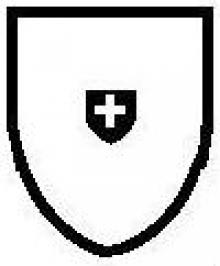 escutcheon, on a