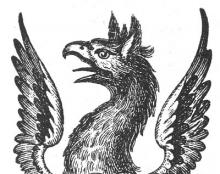 griffin's head and wings