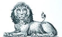 lion couchant gardant
