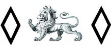 lion passant between