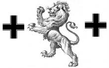 lion rampant between