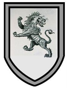 lion rampant regardant within