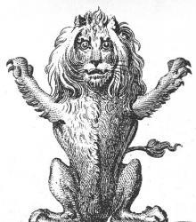 lion sejant affronty