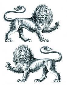 lions passant counterpassant gardant  (2)